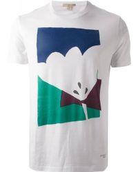 Burberry Brit Flower Print T-Shirt - Lyst