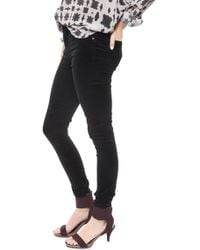 Citizens of Humanity Rocket High Rise Skinny Velveteen black - Lyst