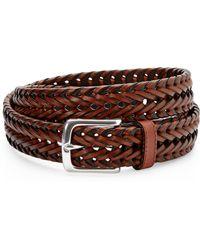 Dockers Brown Braided Belt - Lyst