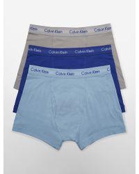 Calvin Klein Cotton Stretch 3-Pack Trunk - Lyst