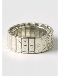 Topman Engraved Stretch Ring - Lyst