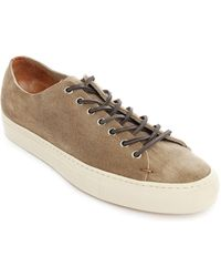Buttero Tanino Taupe Suede Sneakers - Lyst