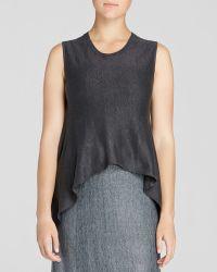 Eileen Fisher Linen Knit Tank - Lyst