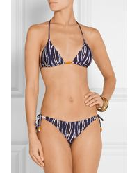 ViX Moorish Printed Triangle Bikini Top - Lyst