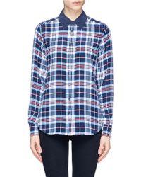 Equipment 'Brett' Plaid Silk Shirt - Lyst