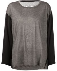 Mm6 By Maison Martin Margiela Two Tone Top - Lyst