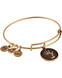 ALEX AND ANI Hand In Hand Charm Bangle - Lyst