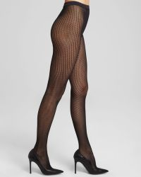 Wolford Black Marie Tights - Lyst