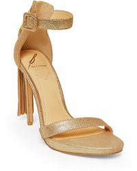 B Brian Atwood | Tosca Tassel Ankle-strap Sandals | Lyst