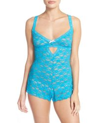 Honeydew Intimates | 'mia' Open Gusset Lace Teddy | Lyst