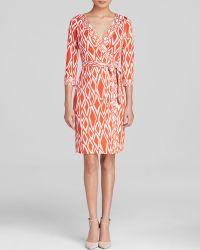 Diane von Furstenberg Wrap Dress - Julian Contrast Trim - Lyst