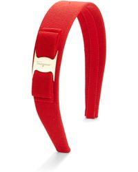 Ferragamo Vara Wide Bow Headband - Lyst