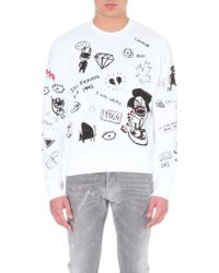 DSquared2 Scribble Graphics Cotton-jersey Sweatshirt - Lyst