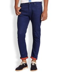 Armani Double-Faced Denim Pants - Lyst