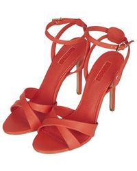 Topshop Rumour Cross-Strap Sandals orange - Lyst