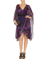 Matthew Williamson Printed Silk-chiffon Wrap Dress - Lyst