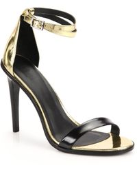 Tibi Amber Specchio Leather Sandals - Lyst