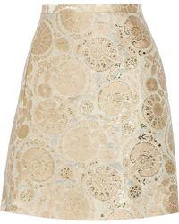 Chloé Metallic Jacquard Mini Skirt - Lyst