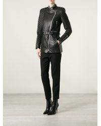 Barbara Bui Black Biker Coat - Lyst