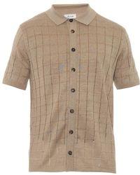 Façonnable - Square-Knit Linen Polo Shirt - Lyst