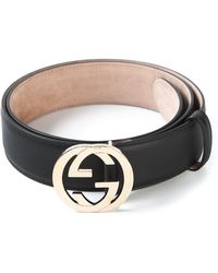 Gucci Logo Plaque Belt - Lyst