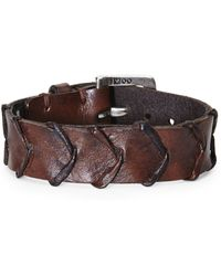 John Varvatos | Handworked Scalloped Cuff | Lyst