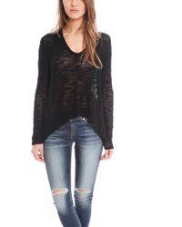 Helmut Lang Irregular Silk Sweater Pullover - Lyst