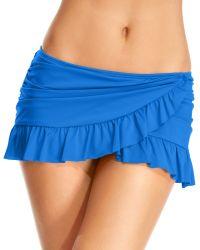 Kenneth Cole Reaction Ruffle Swim Skirt - Lyst