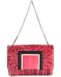 Jimmy Choo Alba Python Skin Shoulder Bag - Lyst