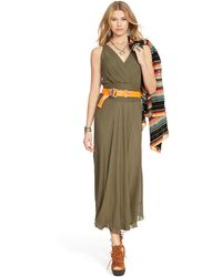 Polo Ralph Lauren Surplice Wrap Dress - Lyst