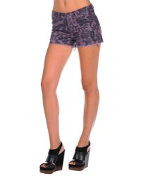 Citizens of Humanity Siam Paisley Cord Short In Iris purple - Lyst