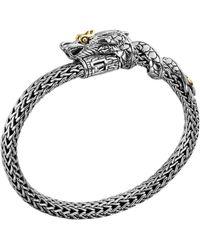 John Hardy Naga Bracelet with 18k Gold Dragon - Lyst