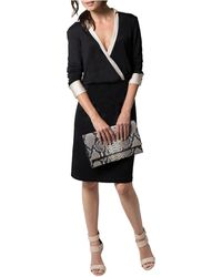 Shirtdress - V-neck Surplice Dress - Lyst