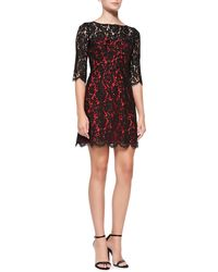 Milly Ally Floral Lace Cocktail Dress - Lyst