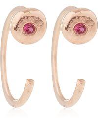 Melissa Joy Manning - Rose Gold Ruby Hug Earrings - Lyst