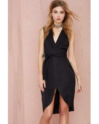 Nasty Gal Boss Around Tuxedo Dress - Lyst