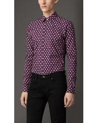 Burberry Slim Fit Cotton Silk Shirt - Lyst