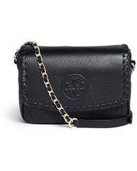 Tory Burch Marion' Mini Leather Crossbody Bag - Lyst