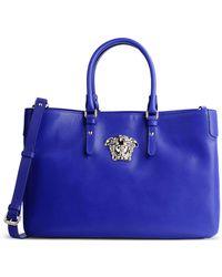 Versace Medium Leather Bag blue - Lyst