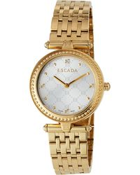 ESCADA - Ion Gold-Plated Stainless Steel Two-Hand Vanessa Watch W/ Diamonds - Lyst