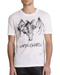 McQ by Alexander McQueen Bat Tattoo Cotton T-Shirt - Lyst