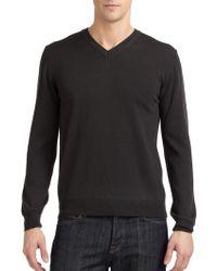 Calvin Klein Merino Wool V-Neck Sweater - Lyst