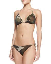 Jean Paul Gaultier Camouflage-print Halter Two-piece - Lyst