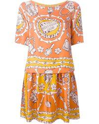 Moschino Cheap & Chic Bone Print Dress - Lyst