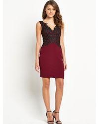 Lipsy 2-in-1 Lace Bodycon Dress - Lyst