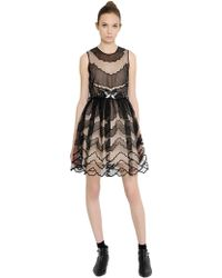 RED Valentino Embroidered Tulle & Organza Dress - Lyst