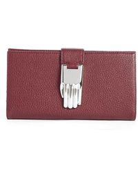 Opening Ceremony - 'misha' Pebbled Leather Wallet - Lyst