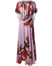 Vivienne Westwood Gold Label | Floral Draped Maxi Dress | Lyst