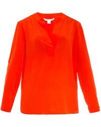Diane von Furstenberg Orange Esti Top - Lyst