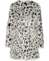 MICHAEL Michael Kors Leopard-Print Faux Fur Coat - Lyst